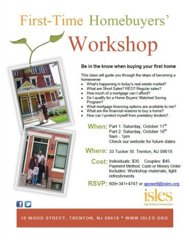 First time homebuyers 39 workshop isles inc for First home buyer plan